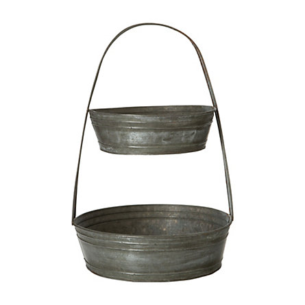Tiered Tin Basket