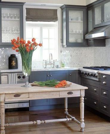 Deep Navy and Fog Gray - Kitchen