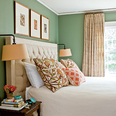 Golden Olive and Tobacco Brown - Bedroom