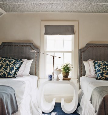 Deep Navy and Fog Gray - Guest Room