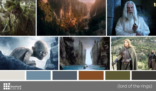 Color in Films: Lord of the Rings