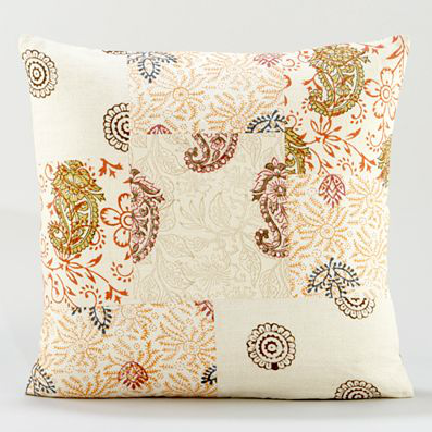 Shop of the Month: World Market - Block Print Patchwork Throw Pillow