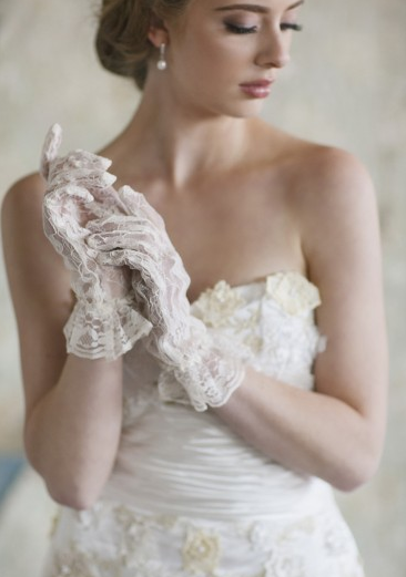 Ruche is Bridal Beautiful - Pure Elation Lace Gloves
