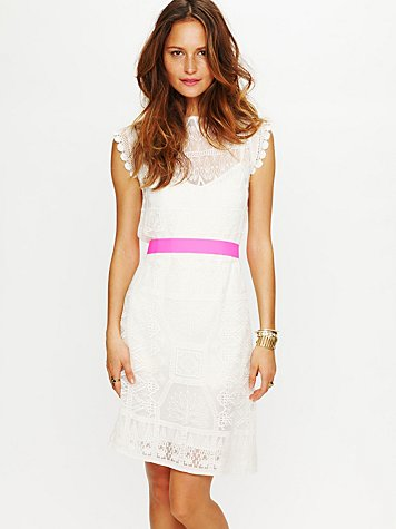 White Summer - Satya Short Lace Dress