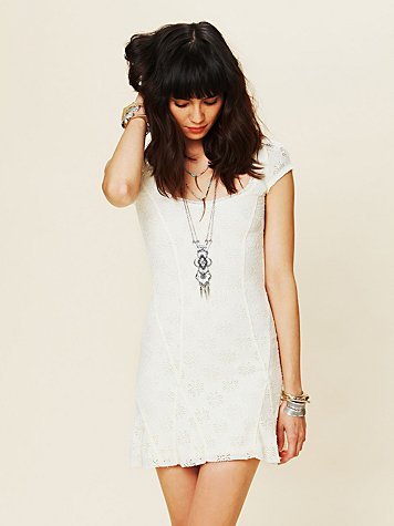 White Summer - Daisy Godet Slip Dress