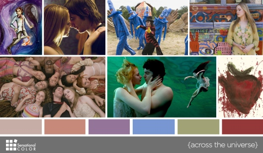 Color in Films: Across the Universe