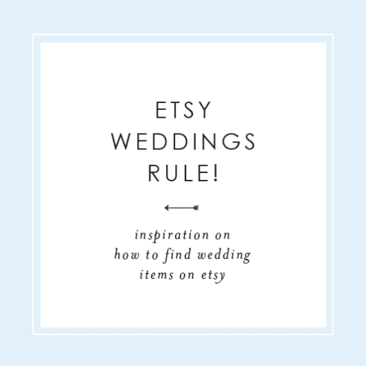 Etsy Weddings Rule