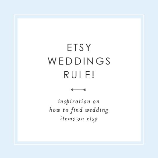 Etsy Weddings Rule