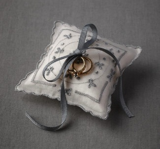 Summer Newsies from BHLDN - Blue Buds Ring Pillow