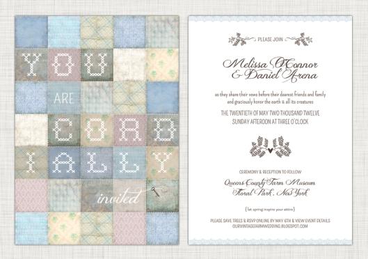 Anatomy of an Invite - Copyright 2012 Melissa O'Connor - Arena