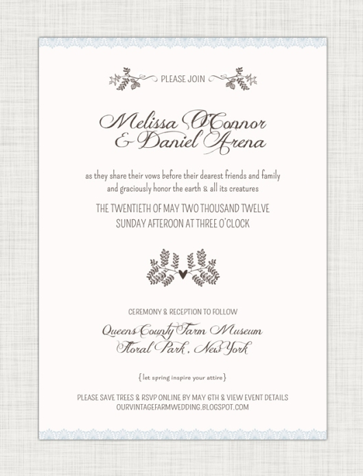 Anatomy of an Invite - Copyright 2012 Melissa O'Connor - Arena