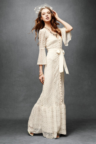 Shop of the Month: BHLDN - Greenbow Lace Gown