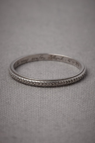 Shop of the Month: BHLDN - Plaited Platinum Ring
