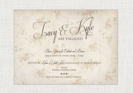 The Wedding Shop - Fruity Floral Engagement Party Invite