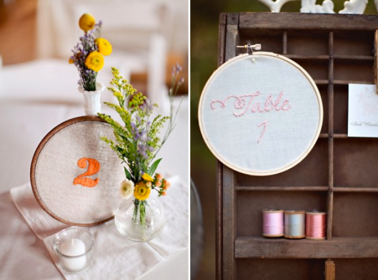 Embroidered-Table-Numbers-Becca-Wood-Photography and DIY-Embroidered-Table-Numbers-Tonya-Joy-Photography