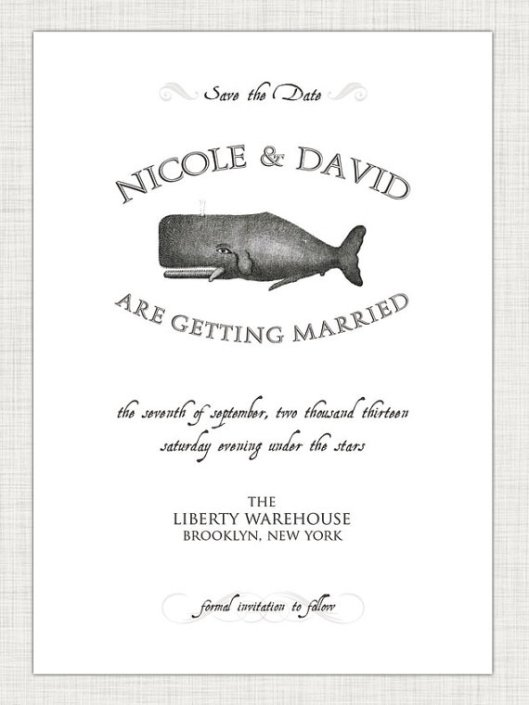 Nautical Love - Whale Save the Date