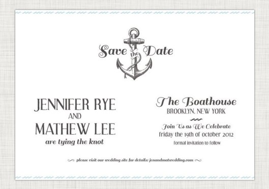 Nautical Love - Anchor Save the Date