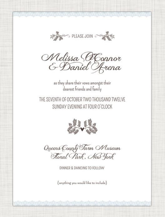 Wedding Invitation Suites are Here - Woodland Lace