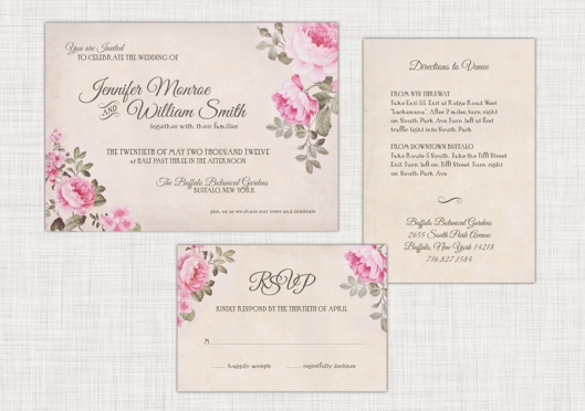 Wedding Invitation Suites are Here - Modern Floral