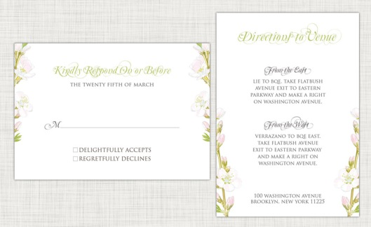 Wedding Invitation Suites are Here - Spring Floral