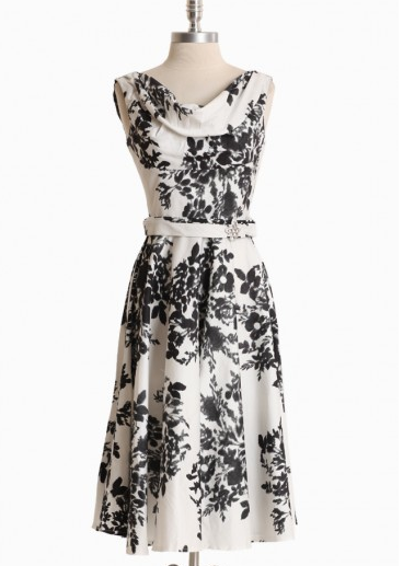 Shop of the Month: Ruche - Leading Lady Flower Print Dress By Unique Vintage