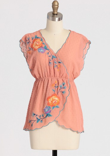 Shop of the Month: Ruche - Duchess Chiffon Embroidered Top