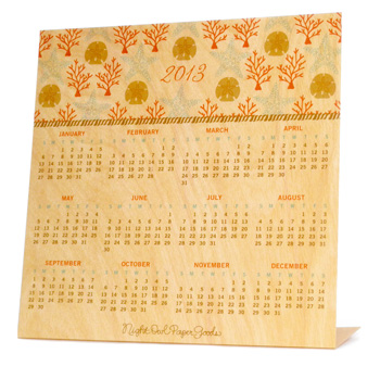 Shop of the Month: Night Owl Paper Goods - Coral Calendar
