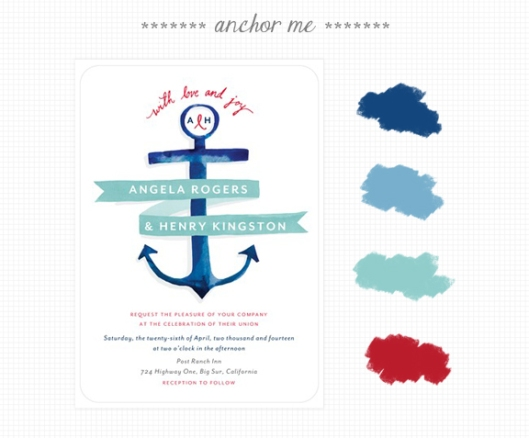 Invite Inspirations: Anchor Me