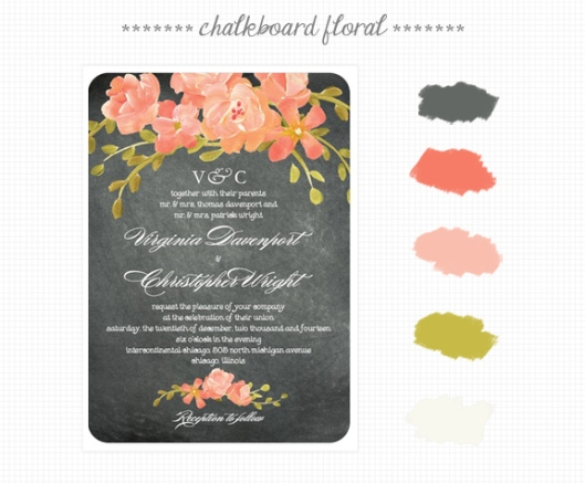 Invite Inspirations: Chalkboard Floral