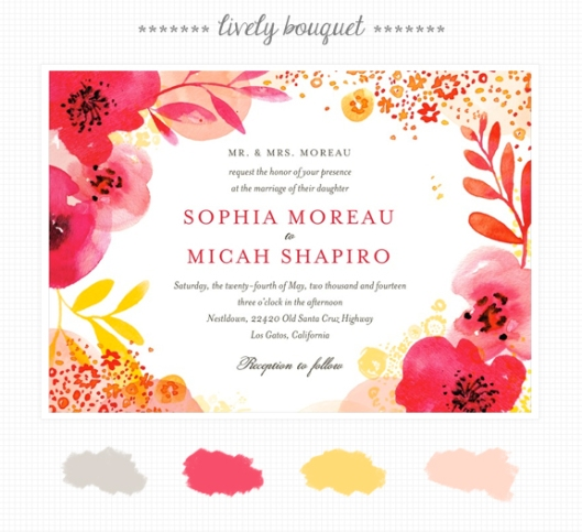 Invite Inspirations: Lively Bouquet