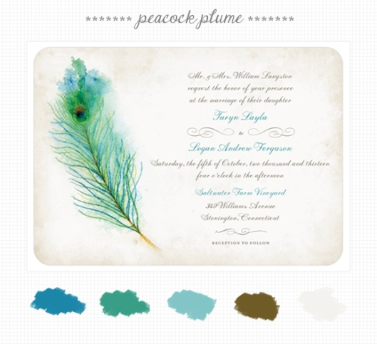 Invite Inspirations: Peacock Plume