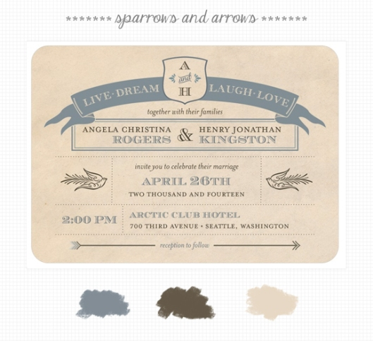 Invite Inspirations: Sparrows and Arrows