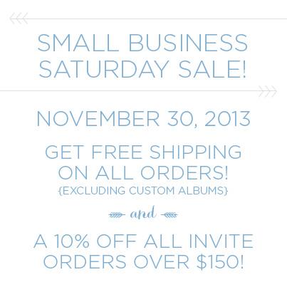 small business saturday sale