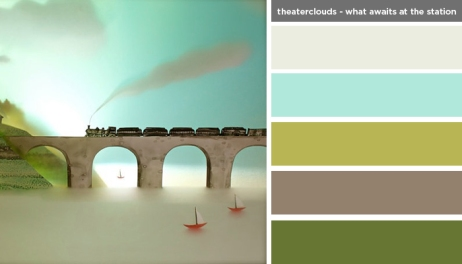 Art Inspired Palette: Theaterclouds - What Awaits at the Station