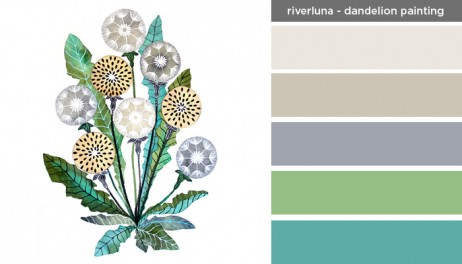 Art Inspired Palette: Riverluna-Dandelion Painting