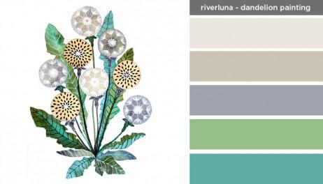 Art Inspired Palette: Riverluna-Dandelion Painting