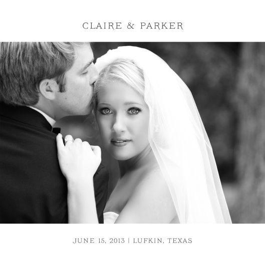 Claire + Parker - Wedding Album