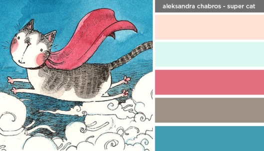 Art Inspired Palette: Aleksandra Chabros-Super Cat