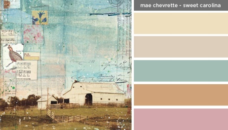 Art Inspired Palette: Mae Chevrette - Sweet Carolina