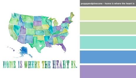 Art Inspired Palette: Poppyandpinecone-Home is Where the Heart is