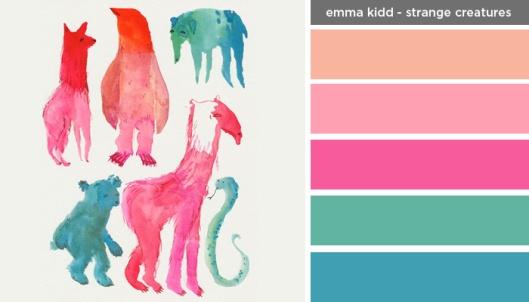 Art Inspired Palettes: Emma Kidd-Strange Creatures