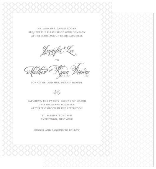 Heirloom Gray Wedding Invitation Suite by Gray Star Design