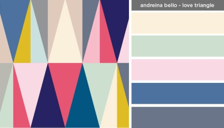 Art Inspired Palette: Andreina Bello-Love Triangle