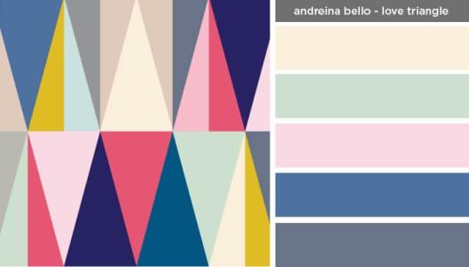 Art Inspired Palette: Andreina Bello-Love Triangle