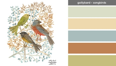 Art Inspired Palette: Gollybard-Songbirds