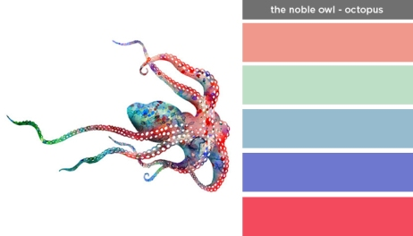 Art Inspired Palette: The Noble Owl-Octopus