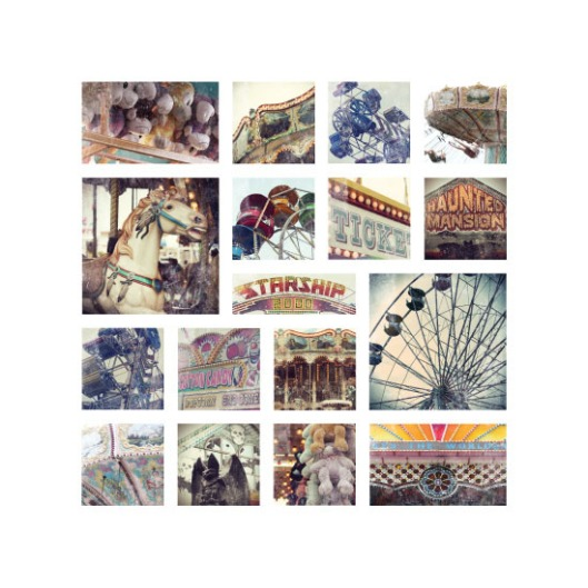 The Minted Eye of the Beholder Challenge - Vintage Carnival Collage