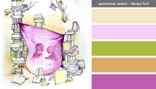 Art Inspired Palette: Genevieve Santos: Library Fort