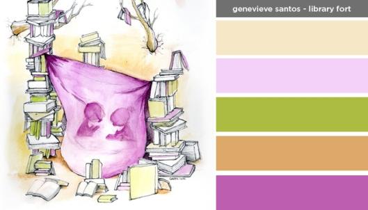 Art Inspired Palette: Genevieve Santos: Library Fort