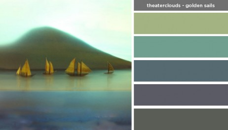 Art Inspired Palette: Theaterclouds-Golden Sails